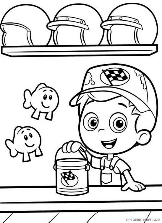 Bubble Guppies Coloring Pages TV Film Little Fish Printable 2020 01635 Coloring4free