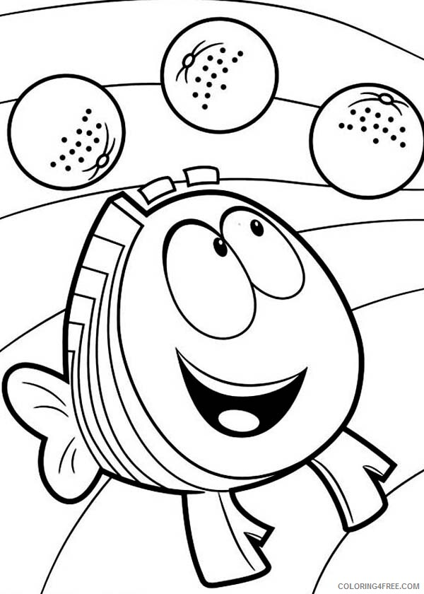 Bubble Guppies Coloring Pages TV Film Mr Grouper Delight Seeing Fruit 2020 01695 Coloring4free