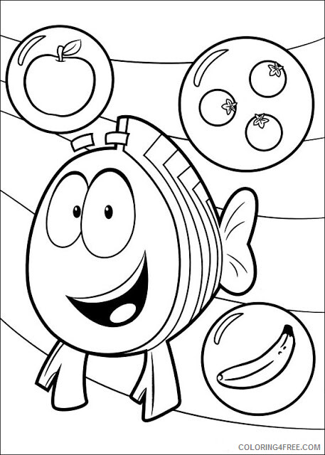 Bubble Guppies Coloring Pages TV Film Mr Grouper Printable 2020 01693 Coloring4free