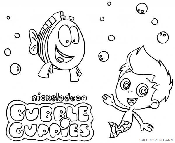 Bubble Guppies Coloring Pages TV Film Nickelodeon Colouring Printable 2020 01637 Coloring4free
