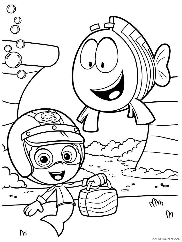 Bubble Guppies Coloring Pages TV Film bubble guppies 18 Printable 2020 01595 Coloring4free