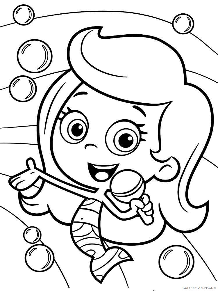 Bubble Guppies Coloring Pages TV Film bubble guppies 25 Printable 2020 01603 Coloring4free