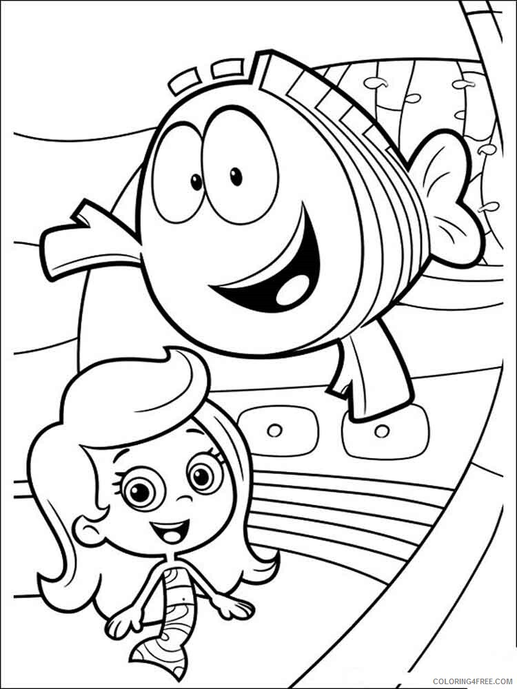 Bubble Guppies Coloring Pages TV Film bubble guppies 5 Printable 2020 01608 Coloring4free