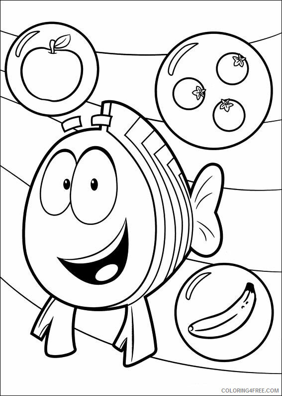 Bubble Guppies Coloring Pages TV Film bubble guppies ReftW Printable 2020 01574 Coloring4free