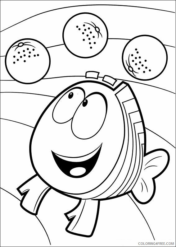Bubble Guppies Coloring Pages TV Film bubble guppies jZ4ws Printable 2020 01573 Coloring4free