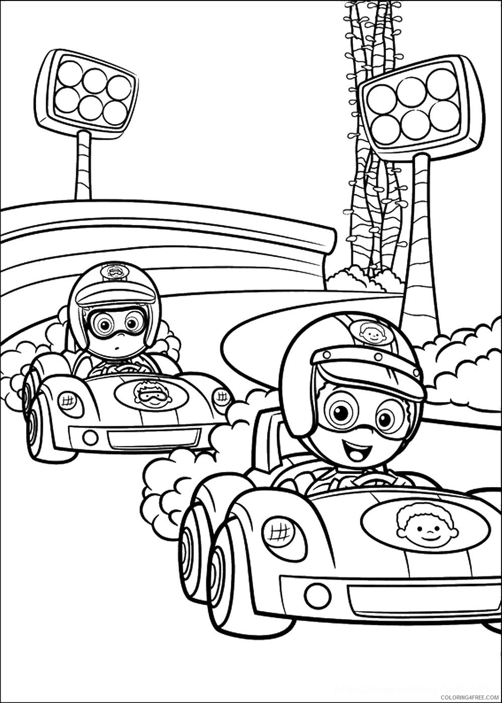 Bubble Guppies Coloring Pages TV Film bubble_guppies_cl02 Printable 2020 01533 Coloring4free