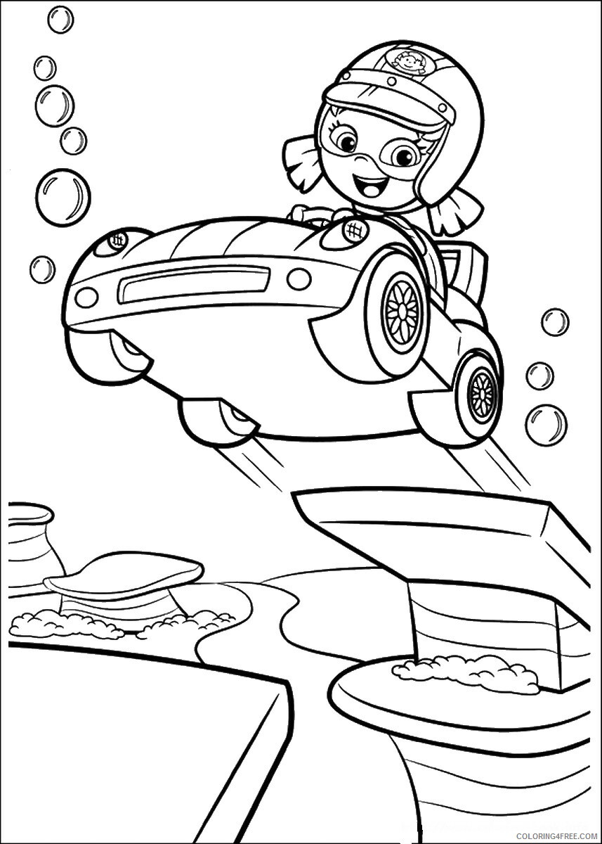 Bubble Guppies Coloring Pages TV Film bubble_guppies_cl04 Printable 2020 01535 Coloring4free