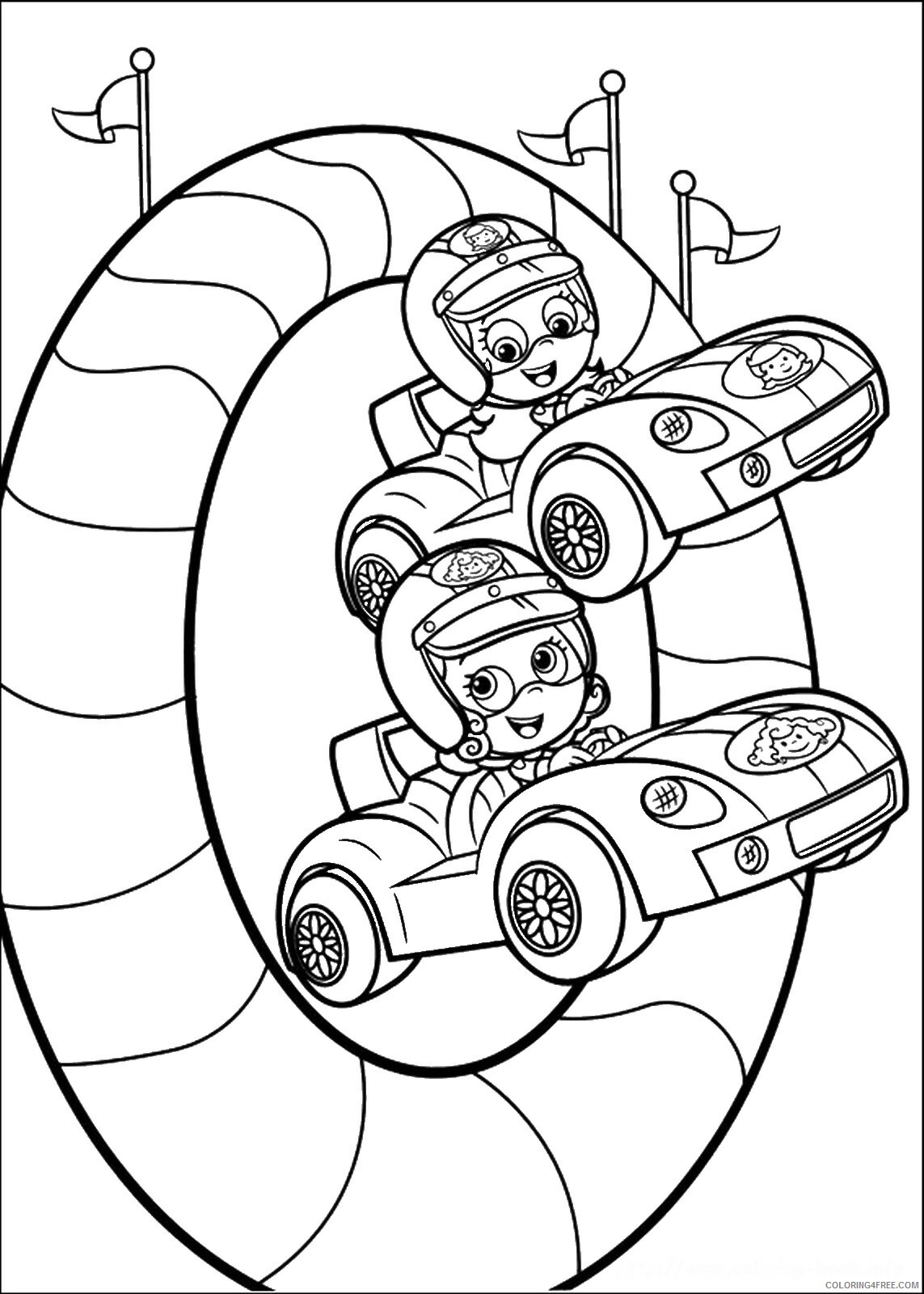 Bubble Guppies Coloring Pages TV Film bubble_guppies_cl07 Printable 2020 01538 Coloring4free
