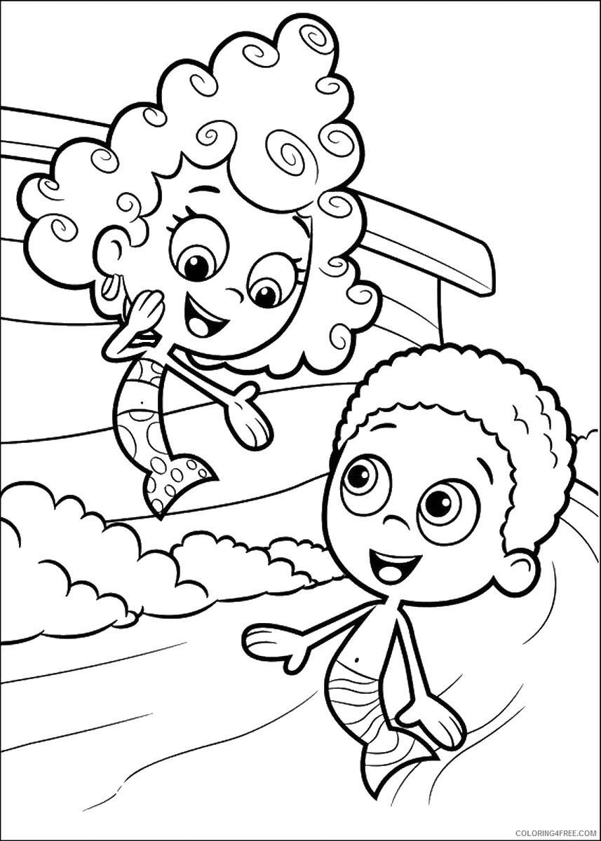 Bubble Guppies Coloring Pages TV Film bubble_guppies_cl13 Printable 2020 01544 Coloring4free