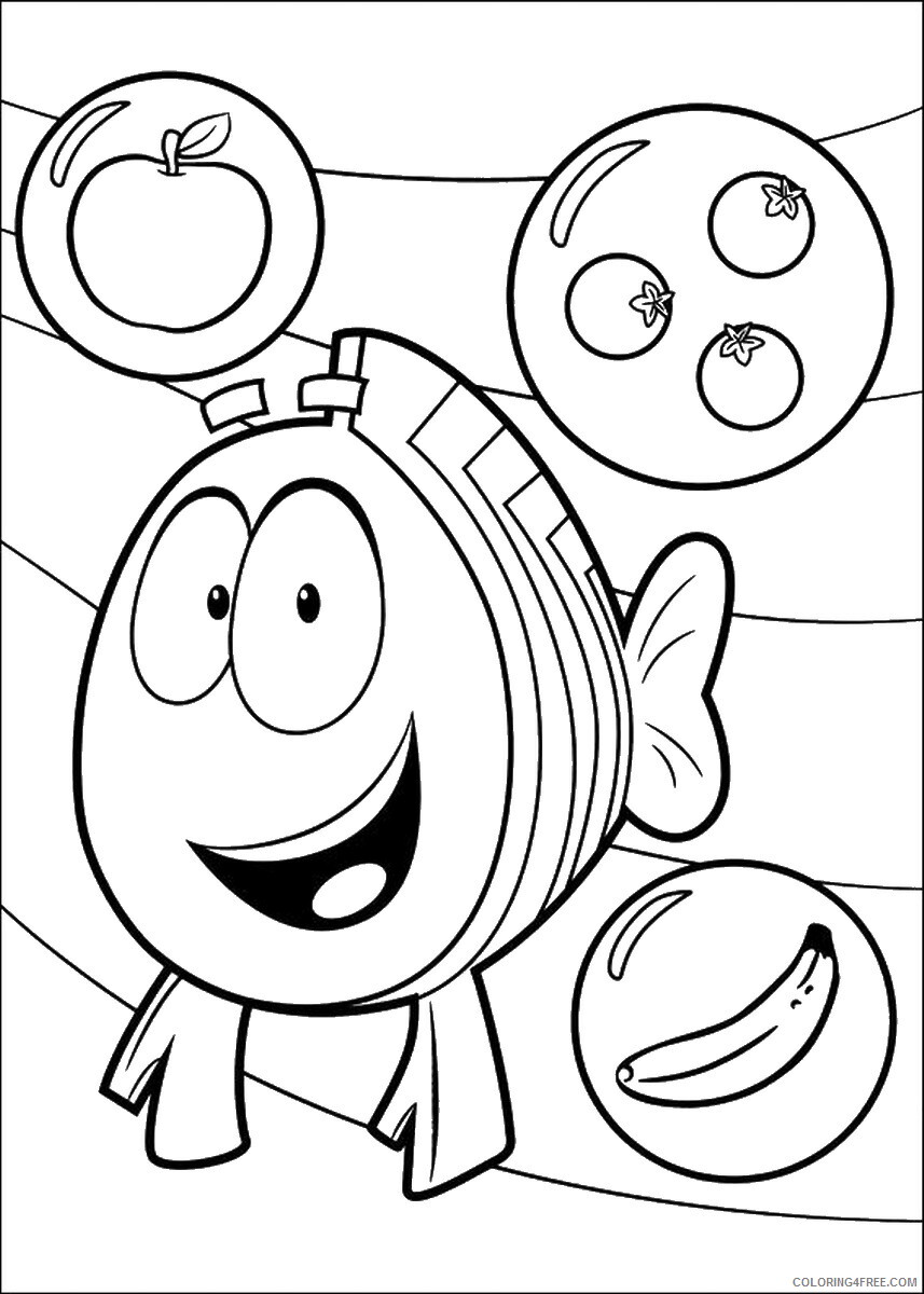 Bubble Guppies Coloring Pages TV Film bubble_guppies_cl14 Printable 2020 01545 Coloring4free