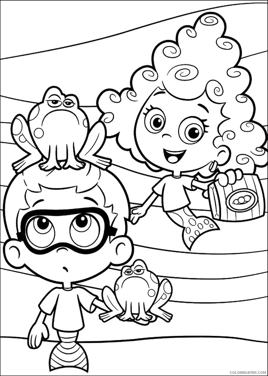 Bubble Guppies Coloring Pages TV Film bubble_guppies_cl17 Printable 2020 01548 Coloring4free