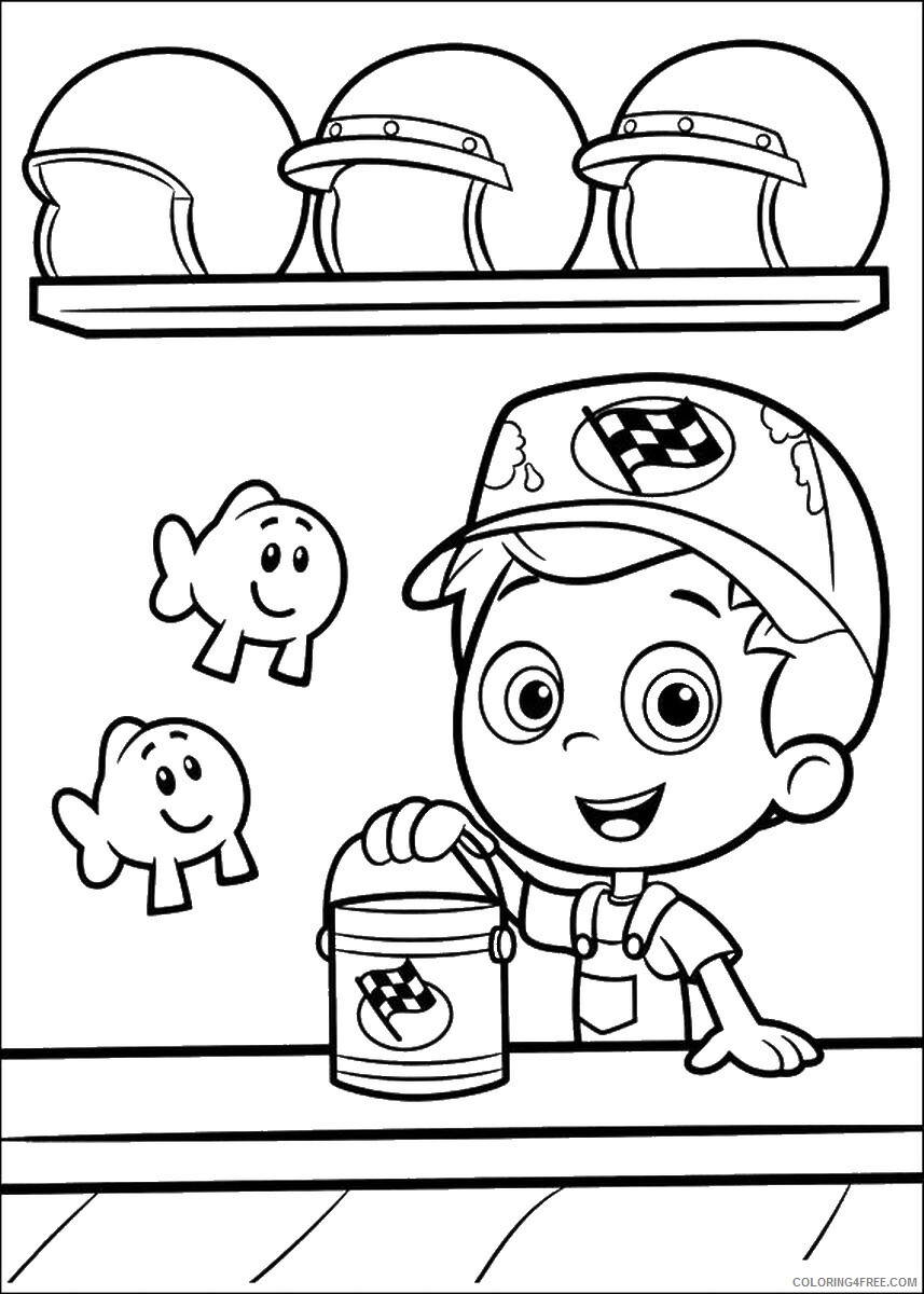 Bubble Guppies Coloring Pages TV Film bubble_guppies_cl23 Printable 2020 01554 Coloring4free