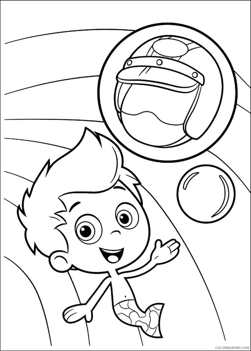 Bubble Guppies Coloring Pages TV Film bubble_guppies_cl25 Printable 2020 01556 Coloring4free
