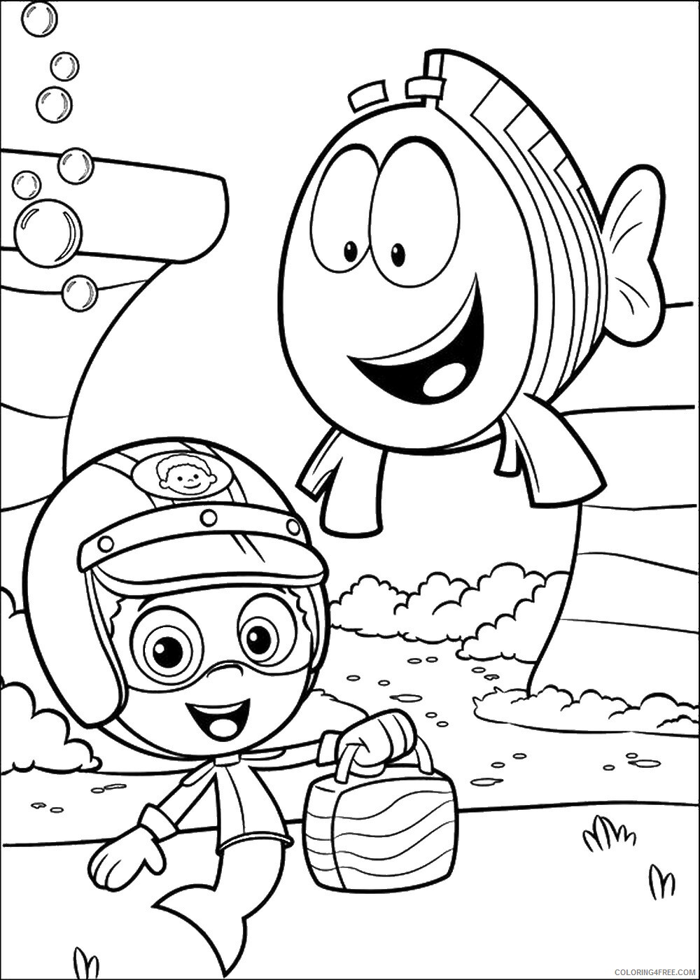 Bubble Guppies Coloring Pages TV Film bubble_guppies_cl26 Printable 2020 01557 Coloring4free