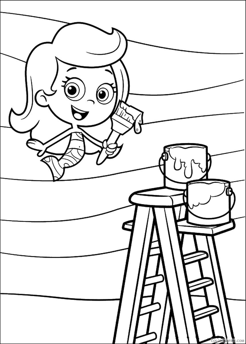 Bubble Guppies Coloring Pages TV Film bubble_guppies_cl28 Printable 2020 01559 Coloring4free