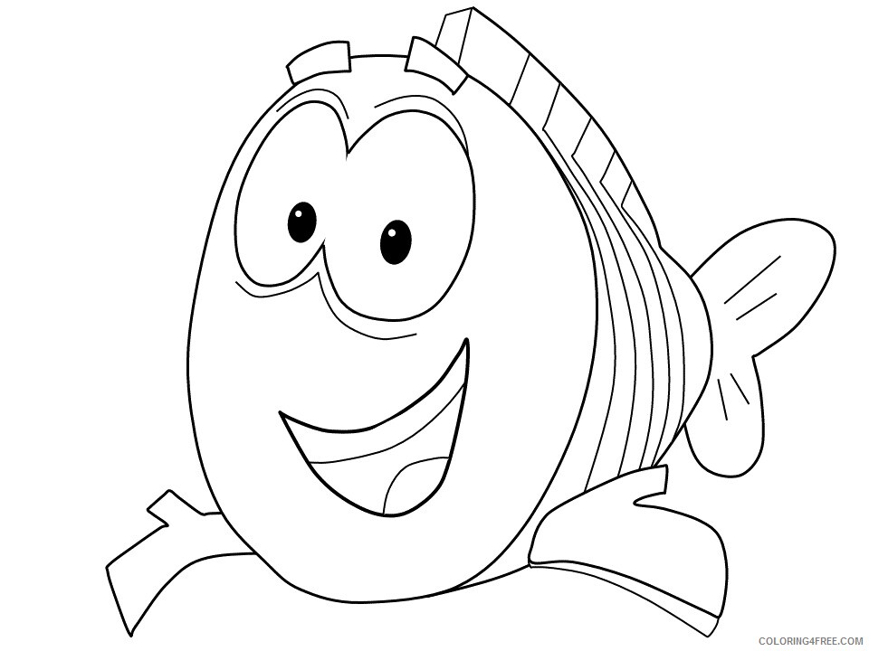 Bubble Guppies Coloring Pages TV Film mr grouper Printable 2020 01692 Coloring4free