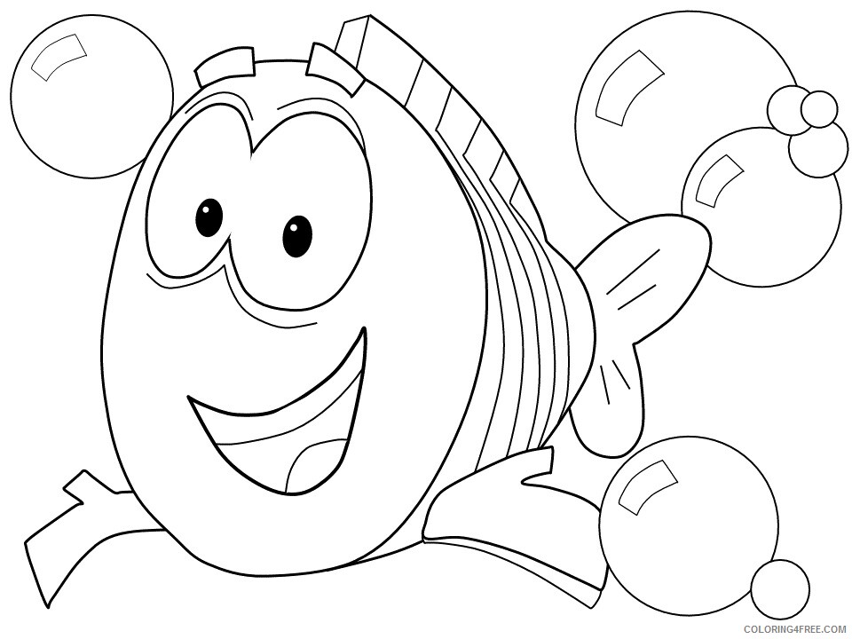 Bubble Guppies Coloring Pages TV Film mr grouper bubbles Printable 2020 01694 Coloring4free