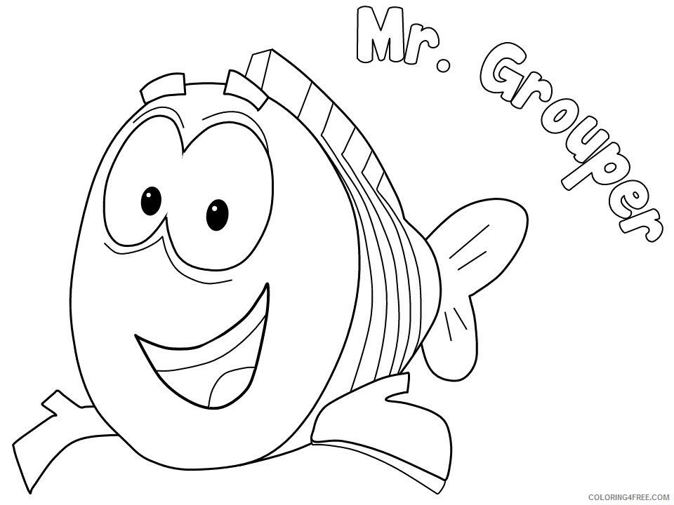 Bubble Guppies Coloring Pages TV Film mr grouper titled Printable 2020 01696 Coloring4free