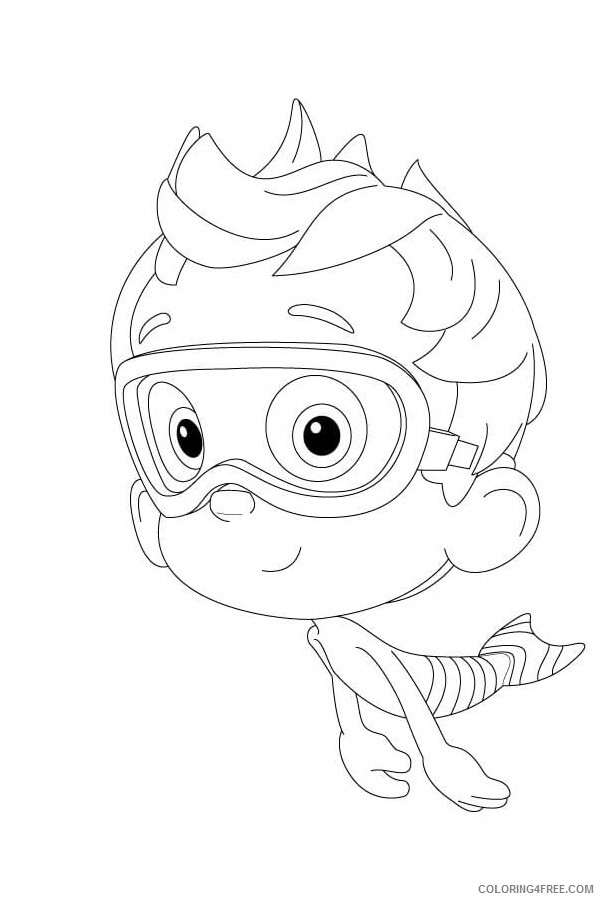 Bubble Guppies Coloring Pages TV Film nonny in bubble guppies 2020 01530 Coloring4free