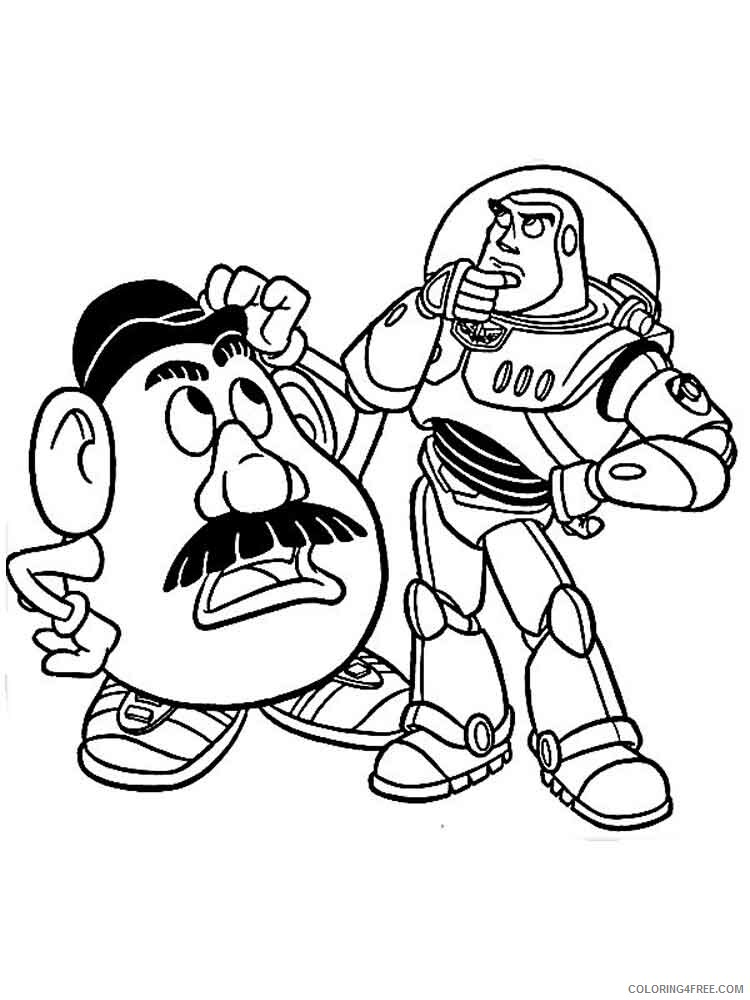 Buzz Lightyear Coloring Pages TV Film buzz lightyear 5 Printable 2020 01744 Coloring4free