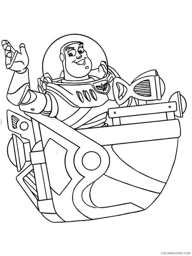 Buzz Lightyear Coloring Pages TV Film buzz lightyear 9 Printable 2020 01747 Coloring4free