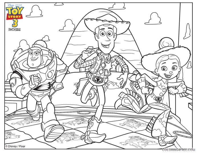 Buzz Lightyear Coloring Pages TV Film buzz woody jessie Printable 2020 01731 Coloring4free