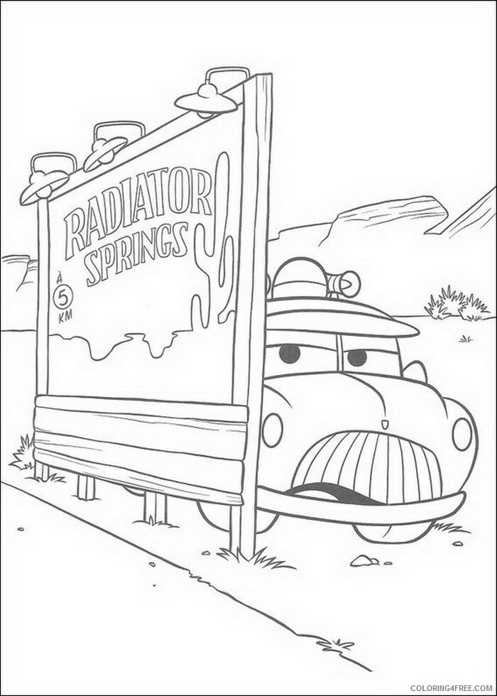 Cars Coloring Pages TV Film cars 18 Printable 2020 01899 Coloring4free
