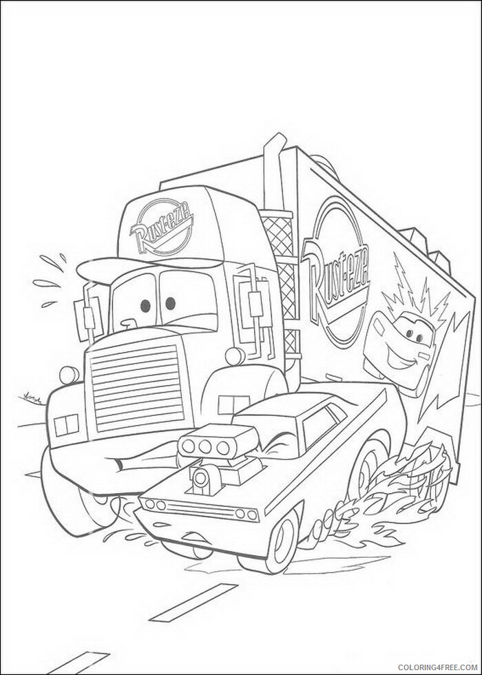 Cars Coloring Pages TV Film cars 19 Printable 2020 01900 Coloring4free