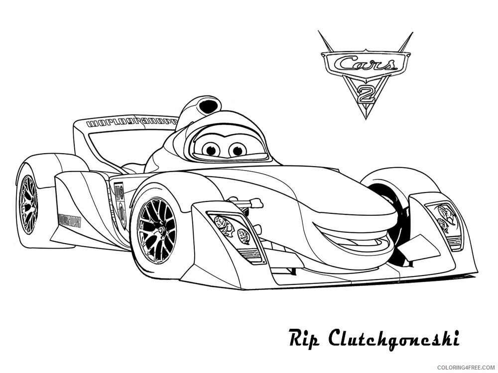 Cars Coloring Pages TV Film cars and cars2 24 Printable 2020 01826 Coloring4free