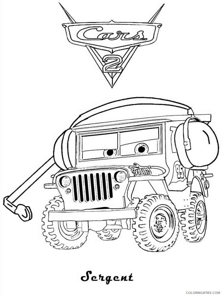 Cars Coloring Pages TV Film cars and cars2 43 Printable 2020 01844 Coloring4free