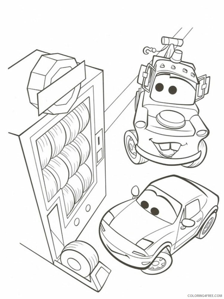 Cars Coloring Pages TV Film cars and cars2 5 Printable 2020 01845 Coloring4free