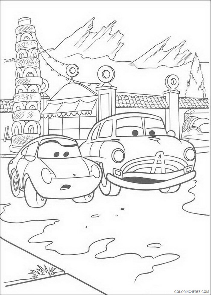 Cars Coloring Pages TV Film cars gOKhD Printable 2020 01865 Coloring4free