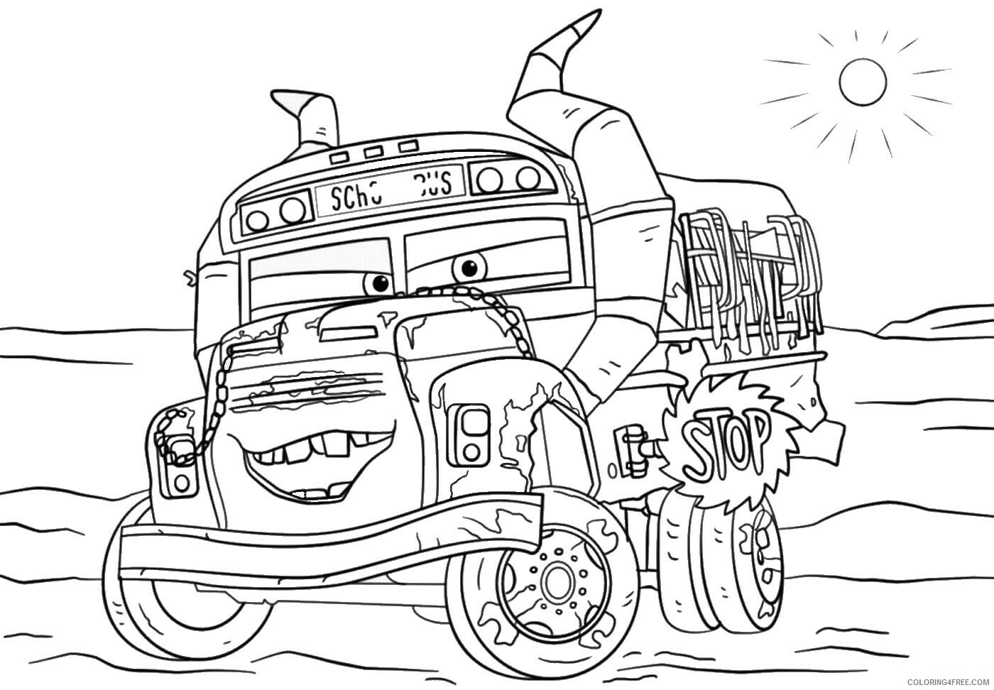 Cars Coloring Pages TV Film cars3 movie3 Printable 2020 01805 Coloring4free