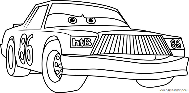 Cars Coloring Pages TV Film chick hicks from cars 31 Printable 2020 01773 Coloring4free