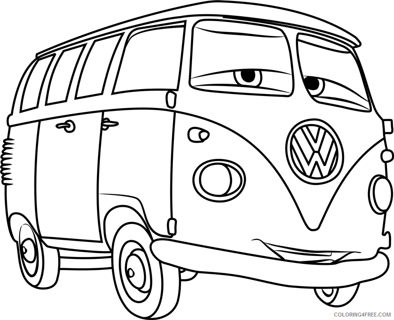 Cars Coloring Pages TV Film fillmore from cars 31 Printable 2020 01772 Coloring4free