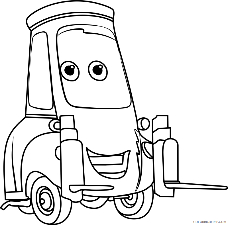 Cars Coloring Pages TV Film guido from cars 31 Printable 2020 01777 Coloring4free