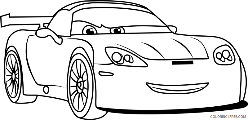 Cars Coloring Pages TV Film jeff gorvette from cars 31 Printable 2020 01779 Coloring4free