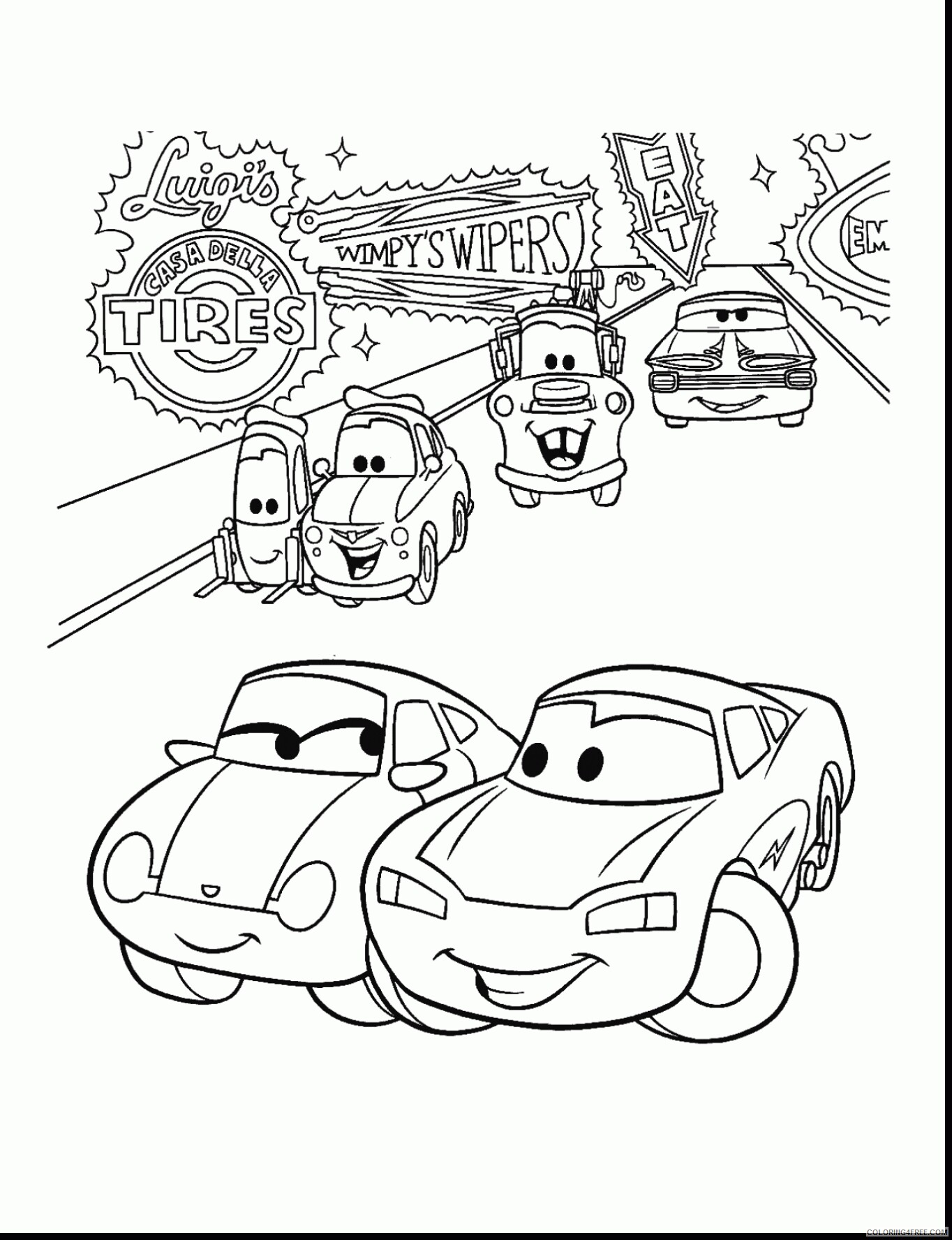 Cars Coloring Pages TV Film magic lightning mcqueen collection books 2020 01786 Coloring4free