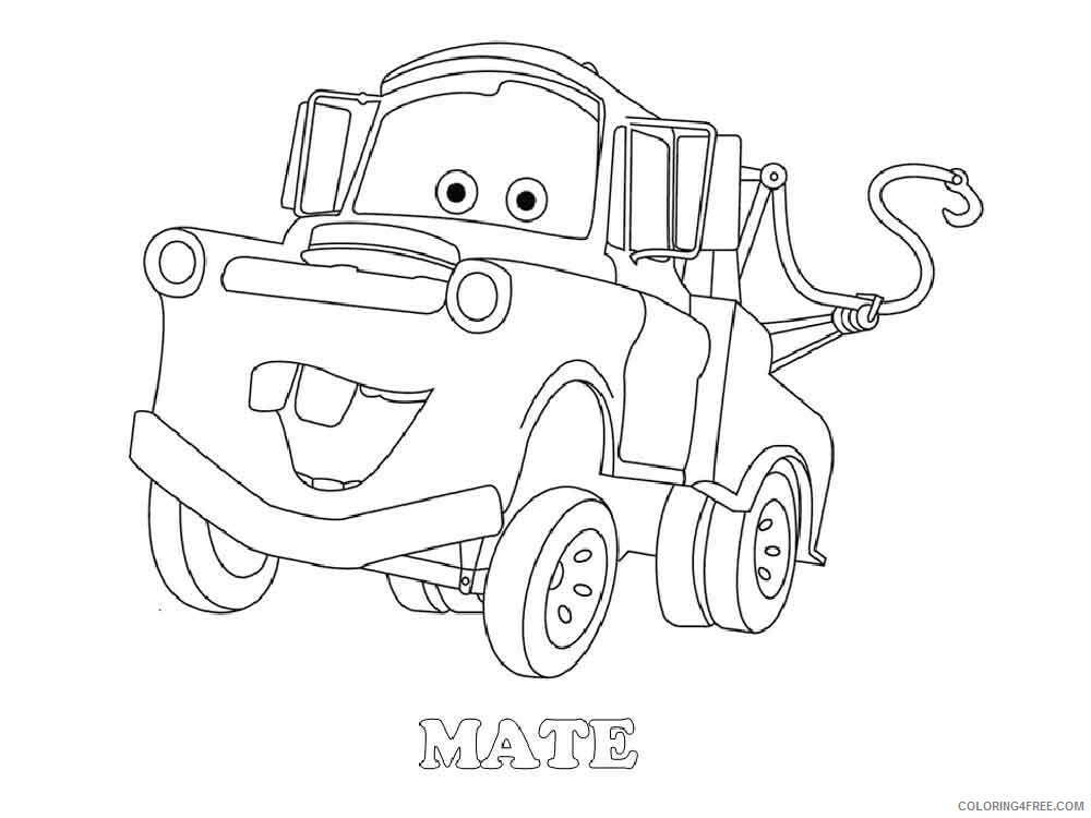 Cars Coloring Pages TV Film mater from cars 12 Printable 2020 01967 Coloring4free