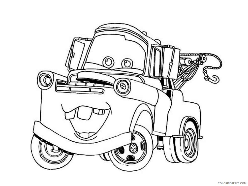 Cars Coloring Pages TV Film mater from cars 15 Printable 2020 01969 Coloring4free
