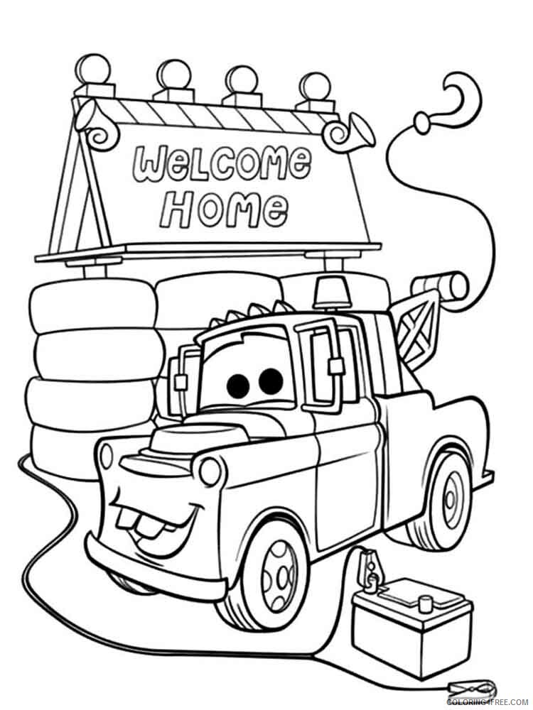 Cars Coloring Pages TV Film mater from cars 16 Printable 2020 01970 Coloring4free