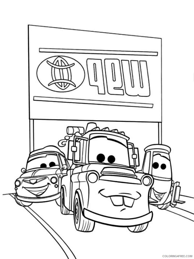 Cars Coloring Pages TV Film mater from cars 17 Printable 2020 01971 Coloring4free
