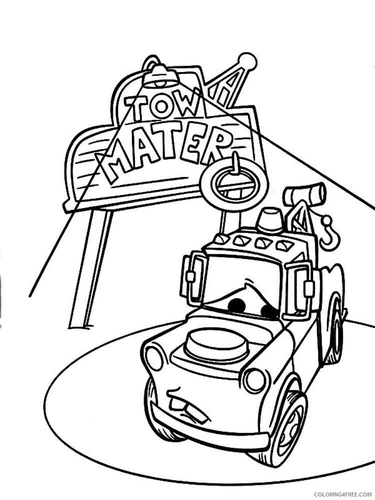 Cars Coloring Pages TV Film mater from cars 18 Printable 2020 01972 Coloring4free