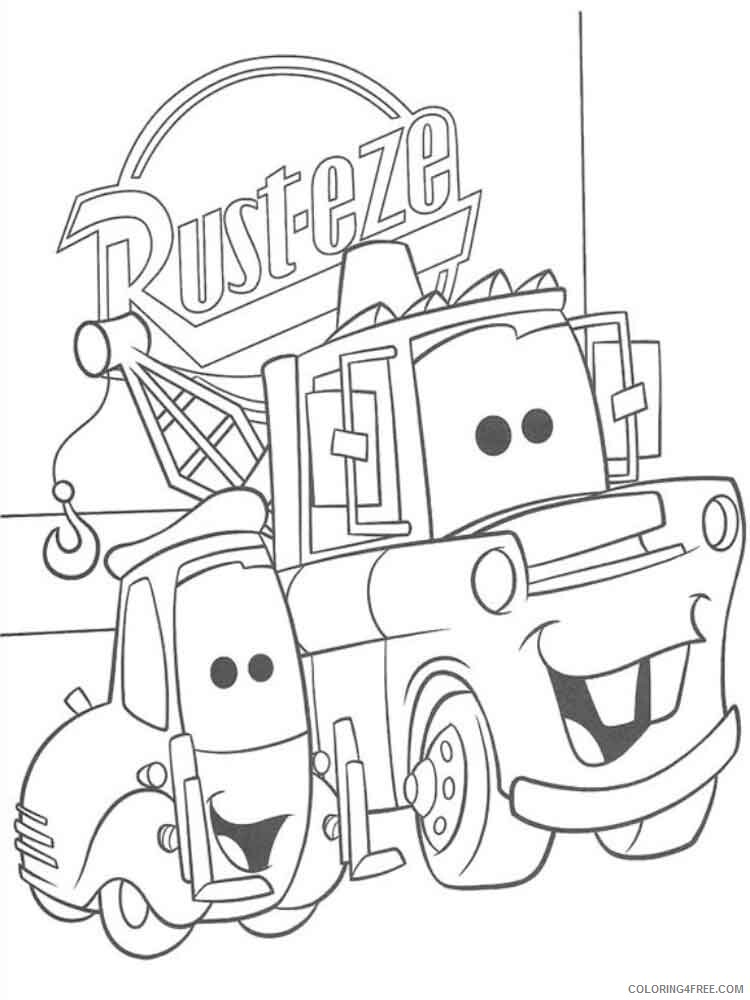 Cars Coloring Pages TV Film mater from cars 6 Printable 2020 01976 Coloring4free