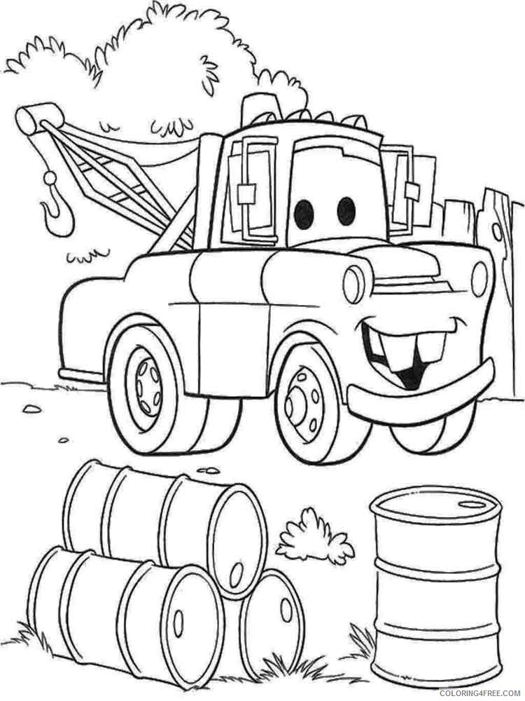 Cars Coloring Pages TV Film mater from cars 8 Printable 2020 01978 Coloring4free