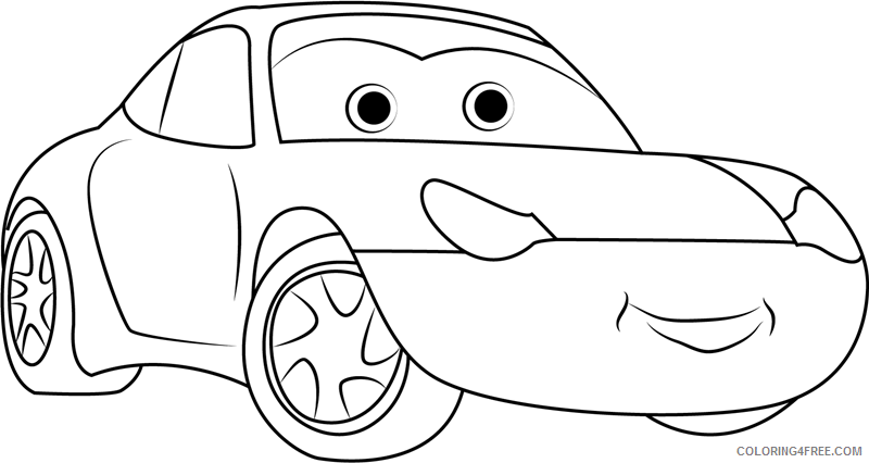 Cars Coloring Pages TV Film sally carrera cars a4 Printable 2020 01784 Coloring4free