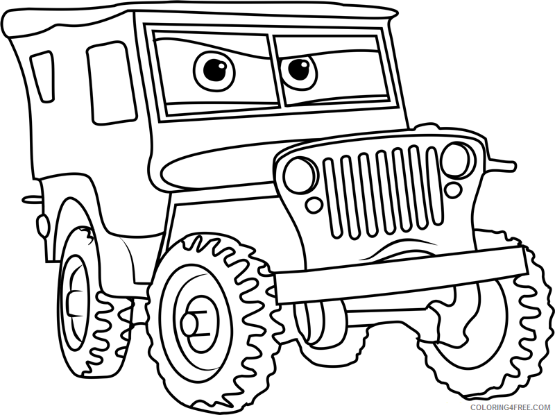 Cars Coloring Pages TV Film sarge from cars 31 Printable 2020 01781 Coloring4free