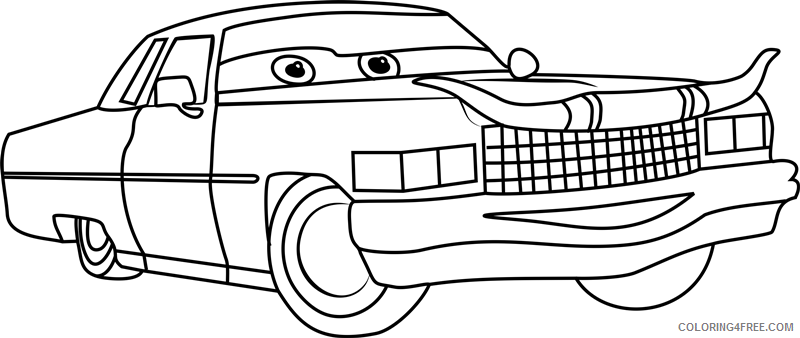 Cars Coloring Pages TV Film tex dinoco from cars 31 Printable 2020 01780 Coloring4free