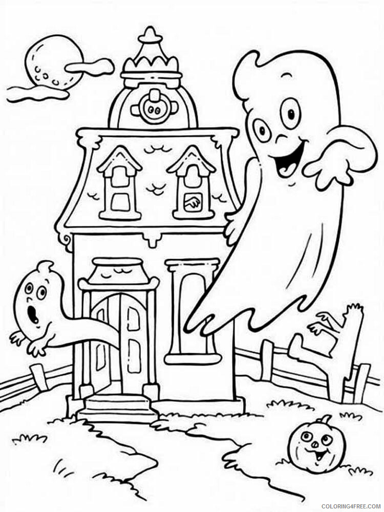 Casper Coloring Pages TV Film Casper 18 Printable 2020 02032 Coloring4free