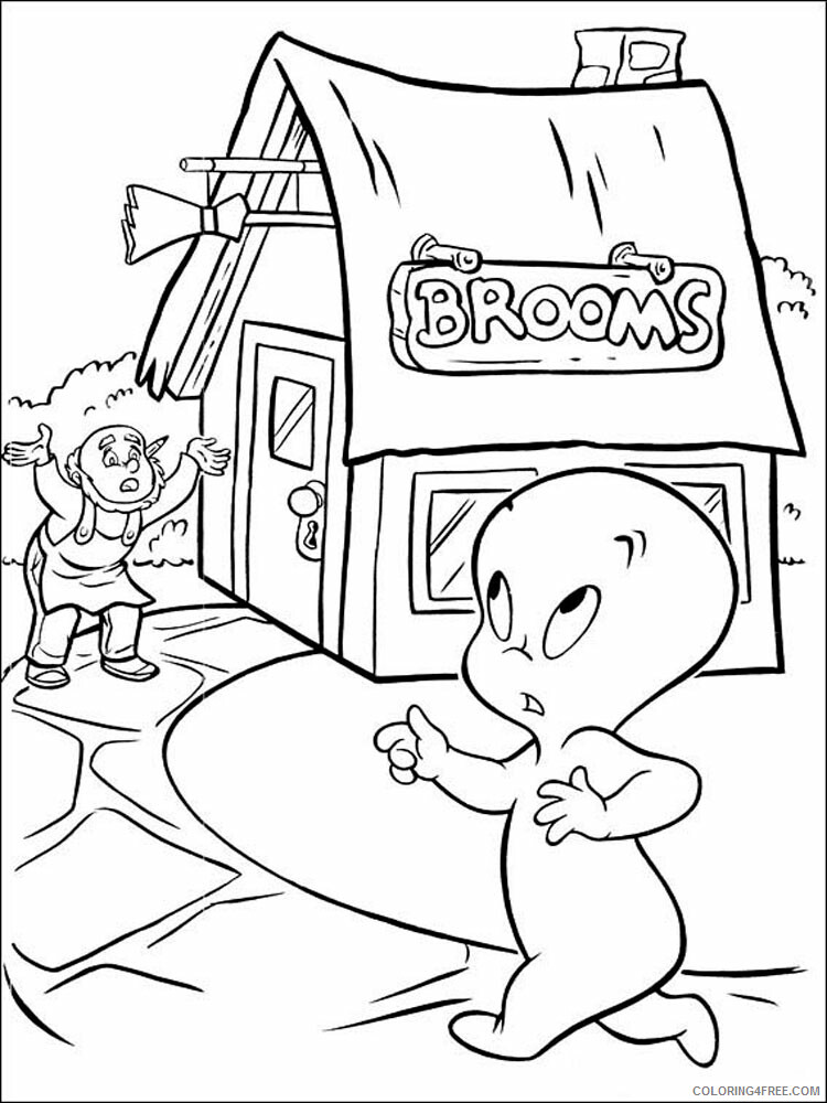 Casper Coloring Pages TV Film Casper 6 Printable 2020 02034 Coloring4free